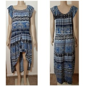 Plus Size Tribal Print Boho Romper Dress Size 3X
